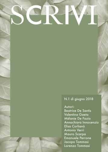 """Scrivi"". A poetry magazine"