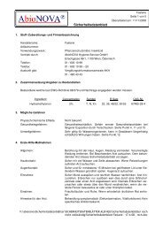 Sicherheitsdatenblatt - bei der Abionova® Hygiene Service Gmbh