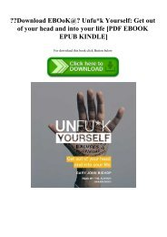 Download EBOoK@ Unfuk Yourself Get out of your head and into your life [PDF EBOOK EPUB KINDLE]