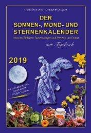 Der Sonnen-, Mond- und Sternenkalender 2019 - Janko/Dickbauer - Metatron-Verlag
