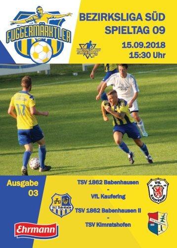 201800915 Fuggermärktler TSV 1862 Babenhausen – VfL Kaufering