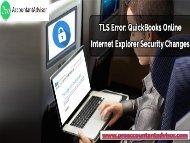 TLS Error: QuickBooks Online Internet Explorer Security Changes