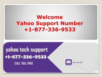 Yahoo Support Service Number +1-877-336-9533