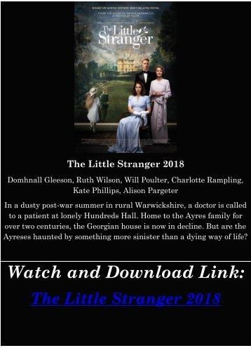 Streaming FULL MOVIE The Little Stranger 2018 HD-BLURAY