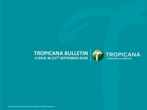 Tropicana Bulletin Issue 36