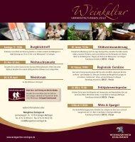 Weinkultur VERANSTALTUNGEN 2012 - Weingärtner Esslingen