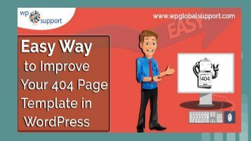 Easy way to improve your 404 page in wordpress