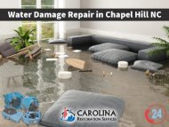 Emergency Water Damage Repair in Chapel Hill NC