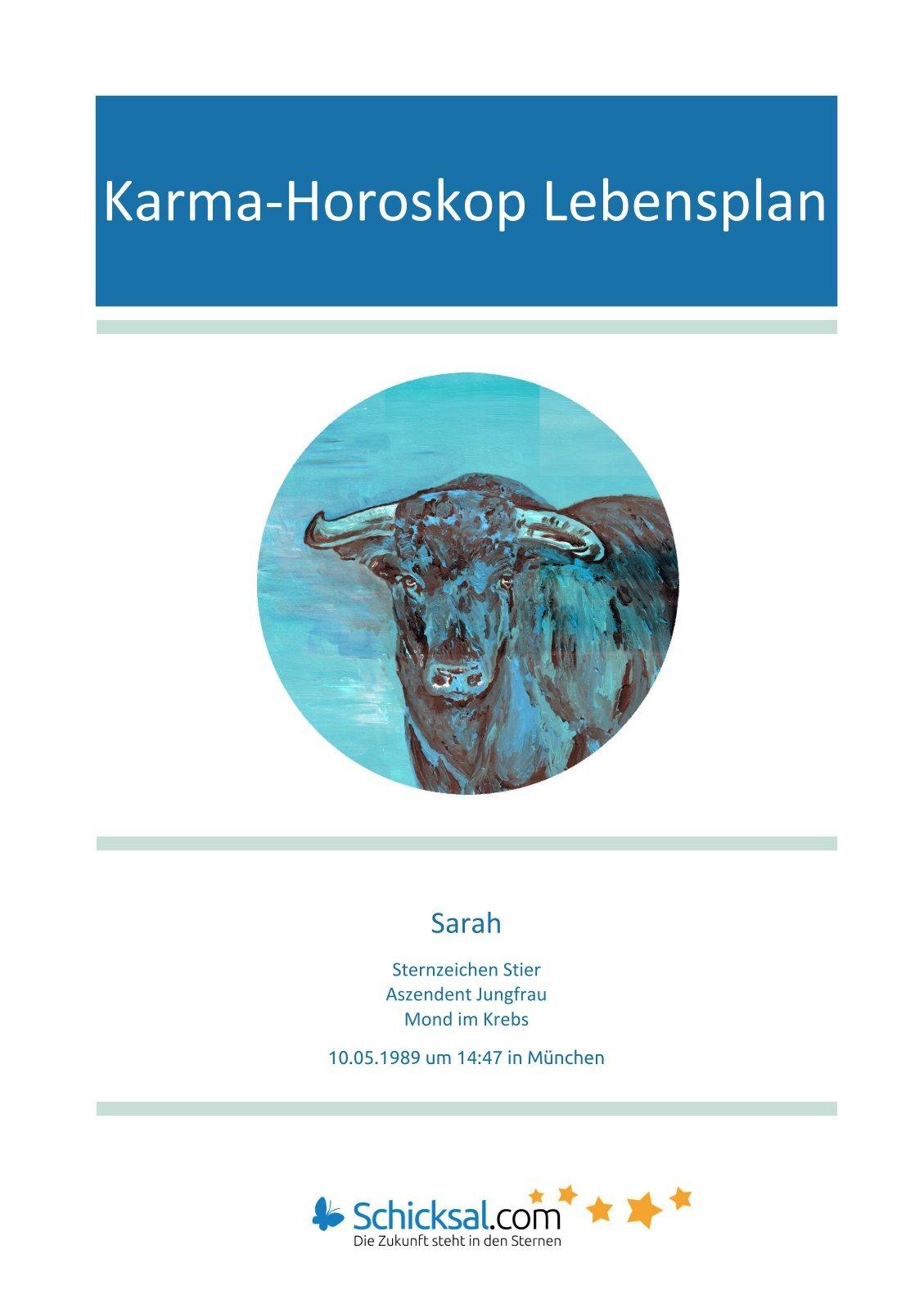 Karma-Horoskop Lebensplan Sarah