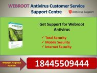 Webroot Customer Service helps 18445509444 USA Toll Free