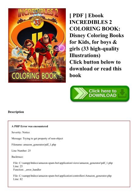 - PDF ] Ebook INCREDIBLES 2 COLORING BOOK Disney Coloring Books For Kids For  Boys & Girls (33