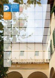 robert schuman centre for advanced studies - European University ...