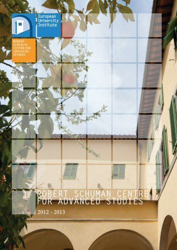 robert schuman centre for advanced studies - European University ...