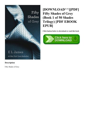 Downloadpdf Fifty Shades Of Grey Book 1 Of