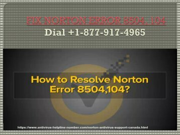 Fix norton error 8504-104|Dial +1-877-917-4965