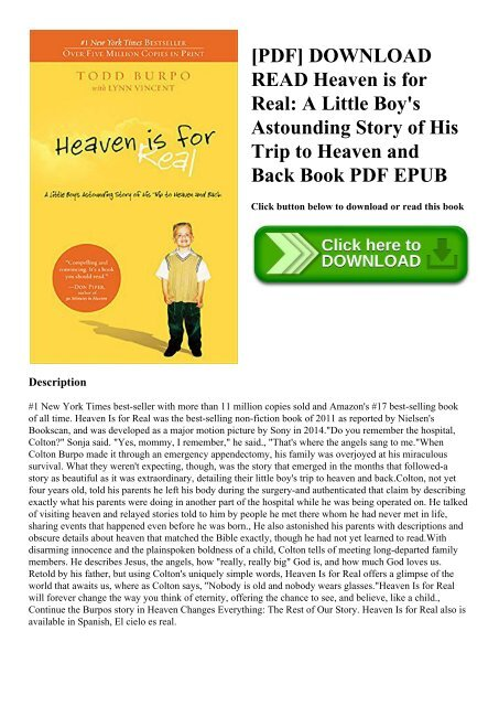 Heaven Is For Real Book For