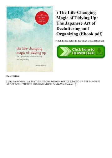 ^READ) The Life-Changing Magic of Tidying Up The Japanese Art of Decluttering and Organizing (Ebook pdf)
