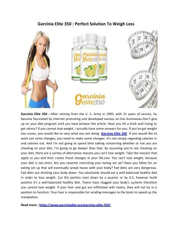 Garcinia Elite 350 : Burn You Excess Body Fat To Achieve Desired Shape Figure