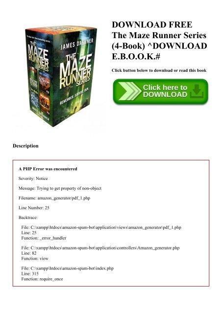 Free download runner epub maze