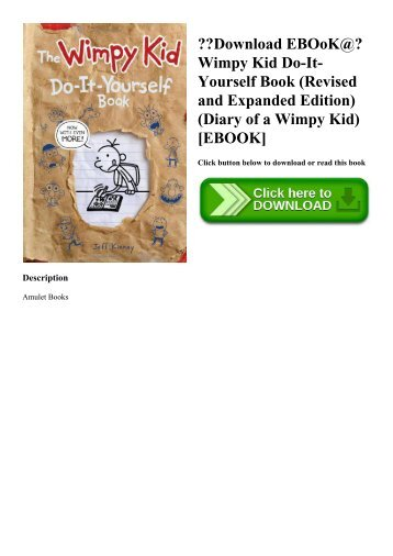 Diary of a wimpy kid book 1 download ebook wimpy kid do it yourself book revised and expanded edition solutioingenieria Image collections