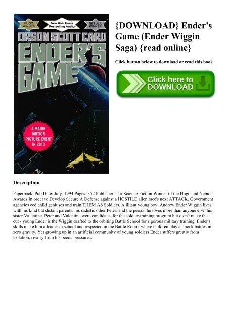 Enders Game Ebook Epub