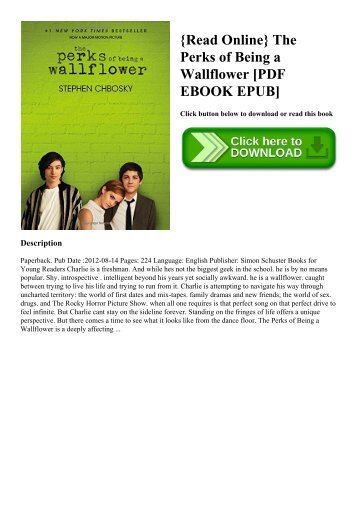 The Perks Of Being A Wallflower Novel Pdf