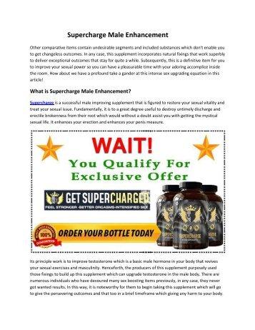 Supercharge Male Enhancement