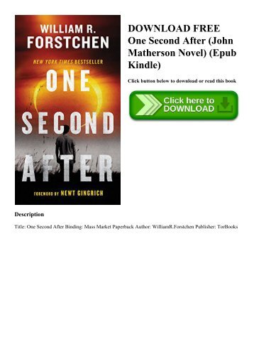 One second after audiobook free   one second after by woxa9026 issuu.
