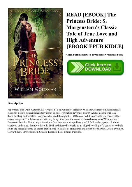 The Princess Bride William Goldman Epub