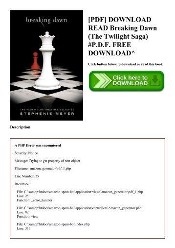 Twilight Saga Pdf File