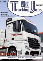 Trucking Jobs Nr.01/2018