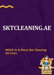 Move In & Move Out Cleaning Services Dubai | SKT Cleaning