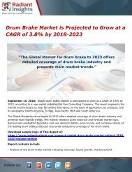 Drum Brake Market is Projected to Grow at a CAGR of 3.8% by 2018-2023