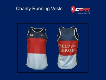 Charity Running Vests from UK
