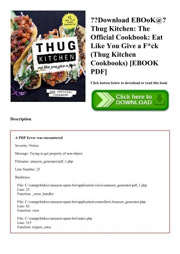 Download EBOoK@ Thug Kitchen The Official Cookbook Eat Like You Give a Fck (Thug Kitchen Cookbooks) [EBOOK PDF]