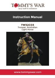 TW32C03 - Trooper, Australian Light Horse, Beersheba 1917 instruction booklet