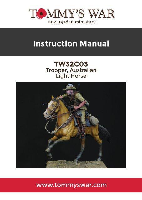 TW32C03 - Trooper, Australian Light Horse, Beersheba 1917 instruction booklet
