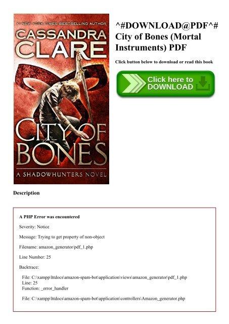 mortal instruments city of bones free pdf download