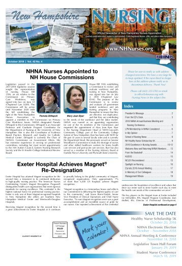 New Hampshire Nursing News - October 2018