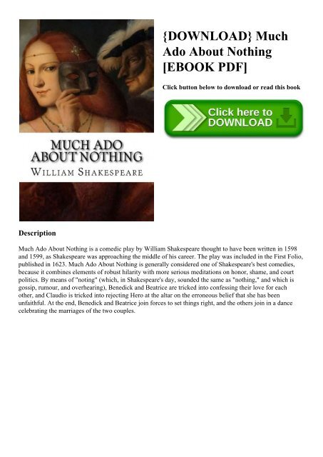 Download Much Ado About Nothing Ebook Pdf Paraphrase