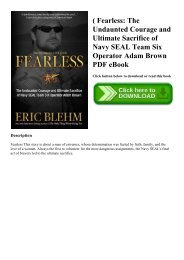 (B.O.O.K.$ Fearless The Undaunted Courage and Ultimate Sacrifice of Navy SEAL Team Six Operator Adam Brown PDF eBook