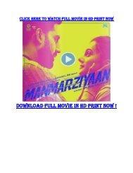 Manmarziyaan Torrent Movie Download 720p DVDRip 700MB Filmywap