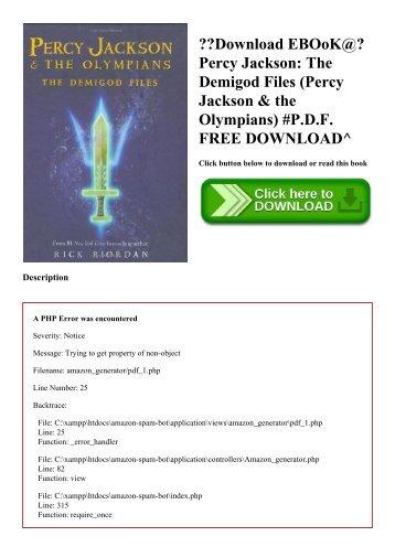 Demigod heroes files olympus the pdf of