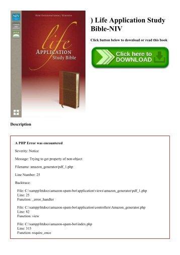 life application study bible pdf
