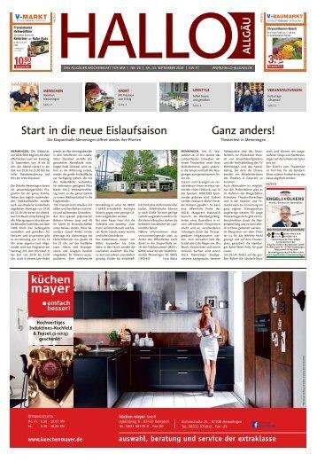 Hallo-Allgäu Memmingen vom Samstag, 15.September