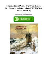 ^READ) Submarines of World War Two Design  Development and Operations {PDF EBOOK EPUB KINDLE}