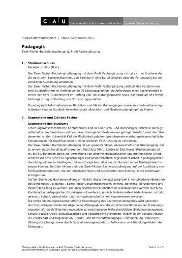 2 fach bachelor erziehungswissenschaft for Biologie studium nc