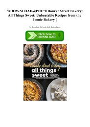 ^#DOWNLOAD@PDF^# Bourke Street Bakery All Things Sweet Unbeatable Recipes from the Iconic Bakery (E.B.O.O.K. DOWNLOAD^