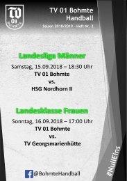 Hallenheft TV 01 Bohmte - Heft 2 Saison 2018/2019