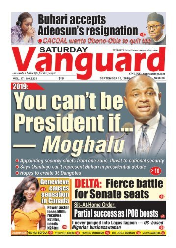 15092018 - You can't be President if...Moghalu YPP Presidential candidate